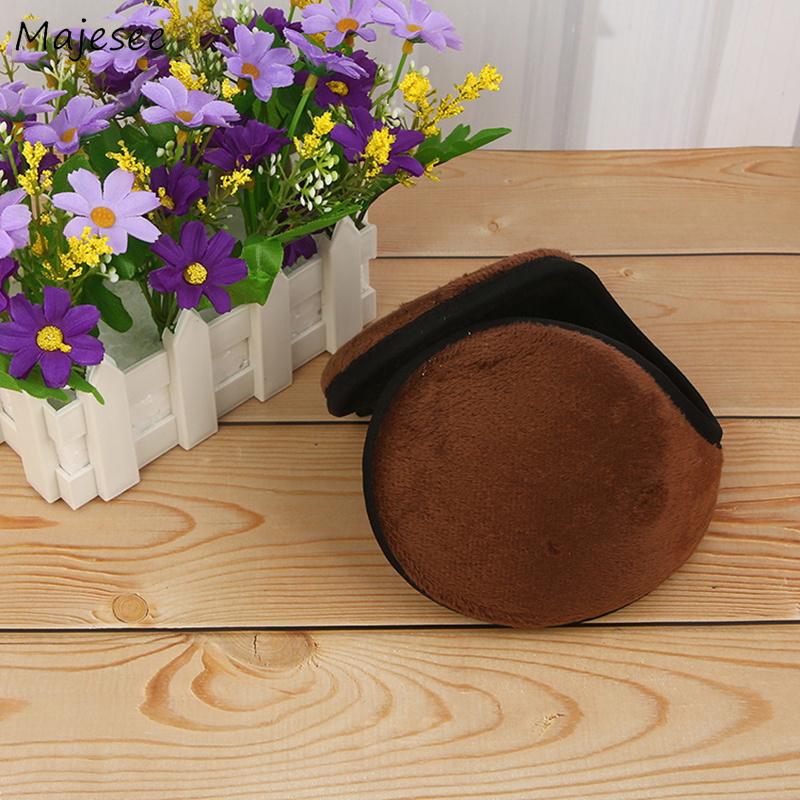 Earmuffs Women Winter Warm Thicker Plush Solid Elegant Womens Earmuff Korean Style All-match Simple Leisure Retro Trendy Daily