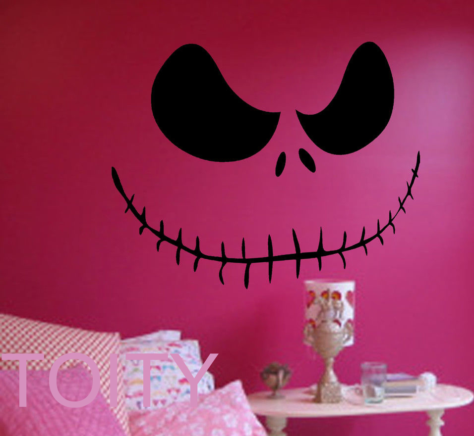 Pumpkin Face Wall Art Decal Nightmare Before Christmas Film Sticker ...