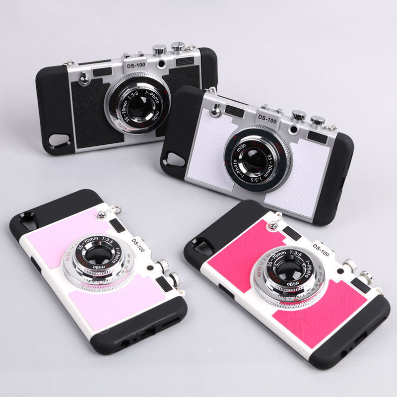 Luxury Retro 3D Camera Style Protective Phone Back Case Cover 4