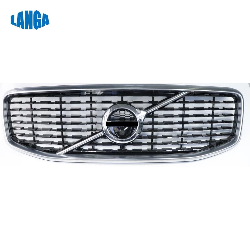fit for Volvo XC60 2018   Genuine Quality Front upper Grille with camera hole  front bumper grille OE: 31457464-in Bumpers from Automobiles & Motorcycles    1