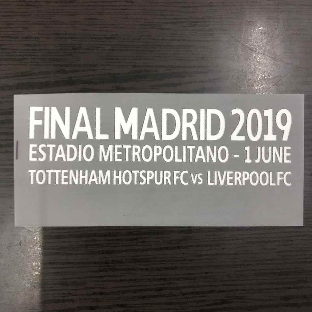 2019 champions league liverpool 6 Cups Badges voetbal Print patch, Europa League Voetbal Hot stamping Patch Badges