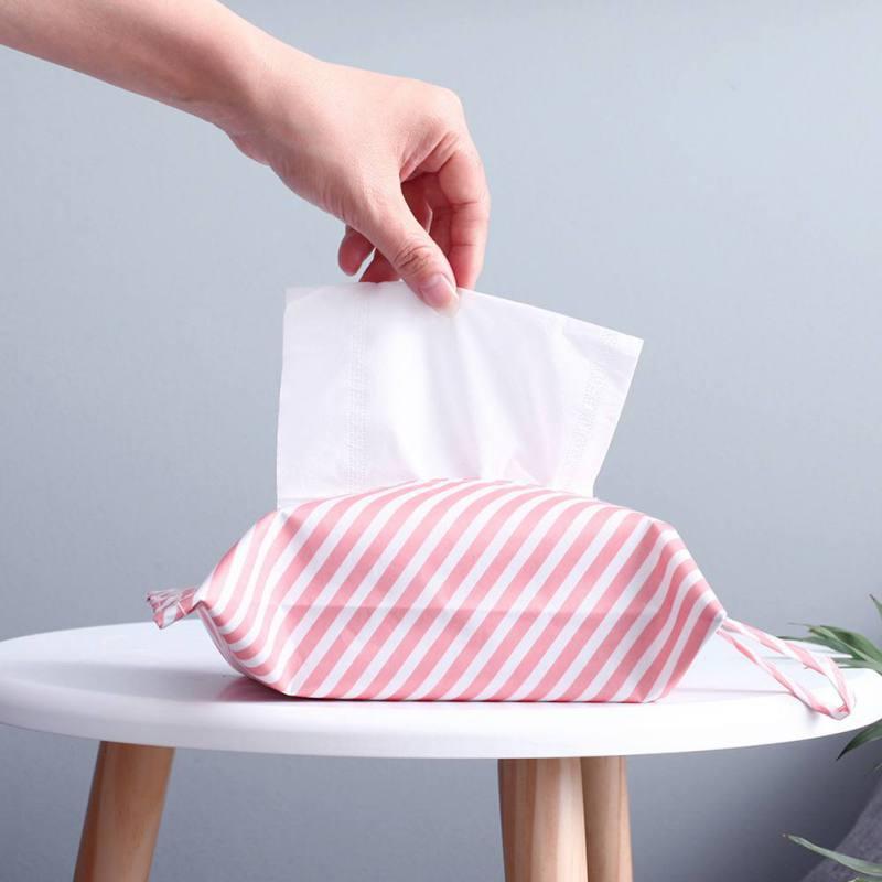 Het Beste Nieuwe Klassieke Streep Flamingo Opknoping Tissue Box Cover Auto Huis Papieren Servet Papieren Handdoek Container Case Tas Voor Thuis Decoratie Om Een Gevoel Op Gemak En Energiek Te Maken