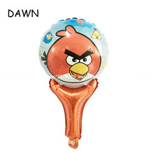 50pcs/lot bird balloons children classic toys Inflatable helium balloon birthday wedding balls party supplies hand stick