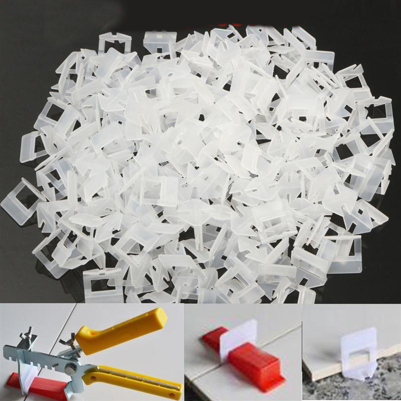 Image 2 - 200pcs Tile Leveling System Clips Kit Wall Floor Tile Spacer Tiling Tool 1.0mmConstruction Tool Parts   -