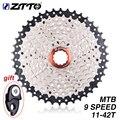 ZTTO MTB 9 Speed 11-42 T Cassette 9 s 27s Freewheel Mountainbike Fiets Onderdelen Cassette BREED VERHOUDING Compatibel voor M430 M4000