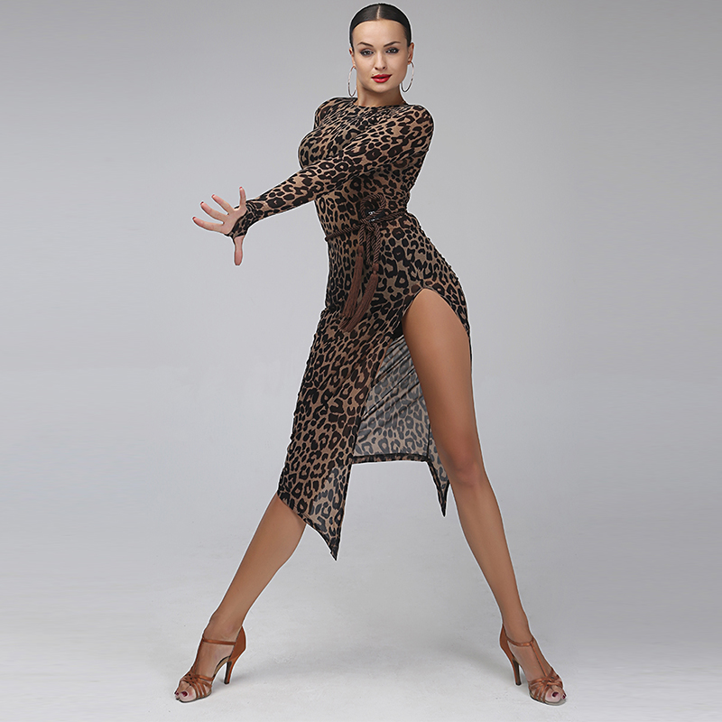 Woman Lady Ballroom Latin Dance Dresses Atmosphere Sexy Adult Competition Salsa Cha Cha Dress Flamengo Dancing Dresses DN1197