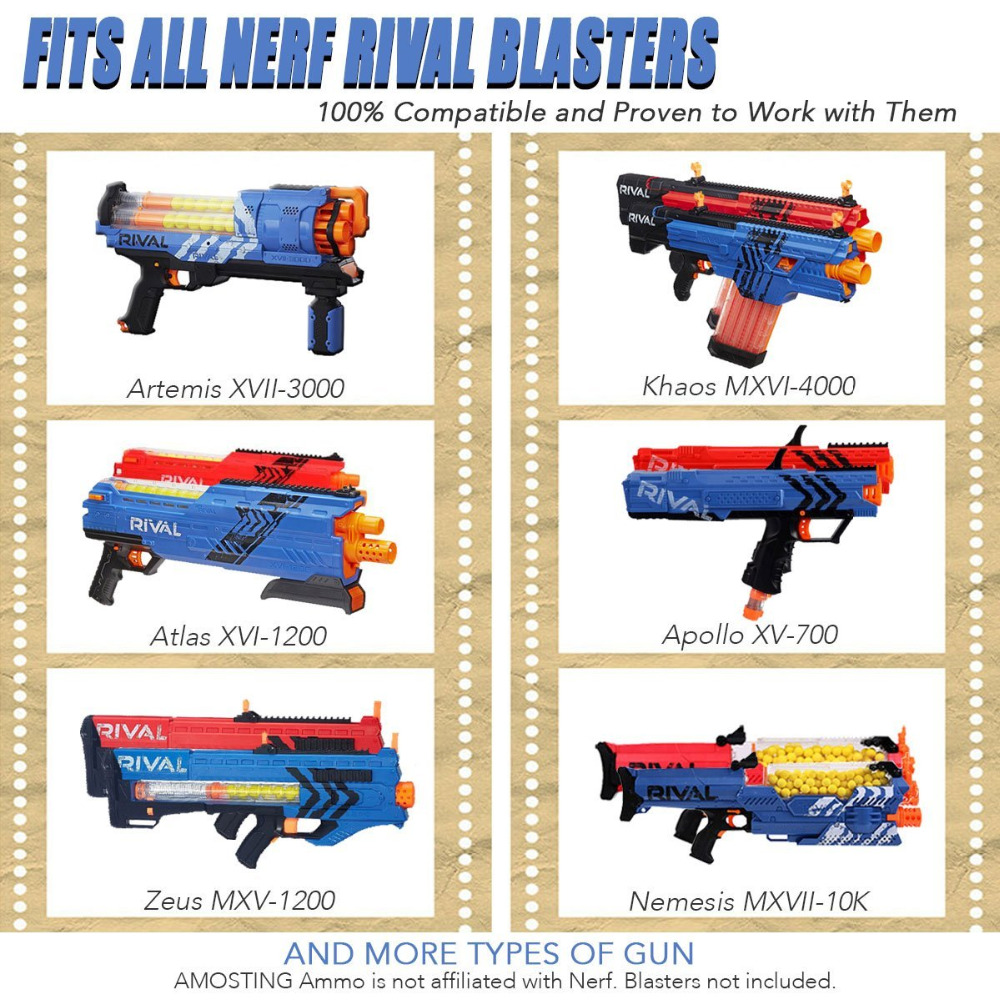 AMOSTING Rival Bullets Refill Darts Pack 100 Round Ammo Balls for Nerf Rival  Blasters Gun Yellow-in Toy Guns from Toys & Hobbies on Aliexpress.com    Alibaba ...