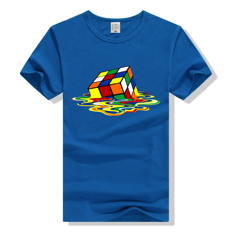 Initiative Teewining Rubik Cube T Shirt The Big Bang Theory T-shirt Sheldon Cooper Geek Tee Hot Sale 50-70% OFF Men's Clothing Tops & Tees