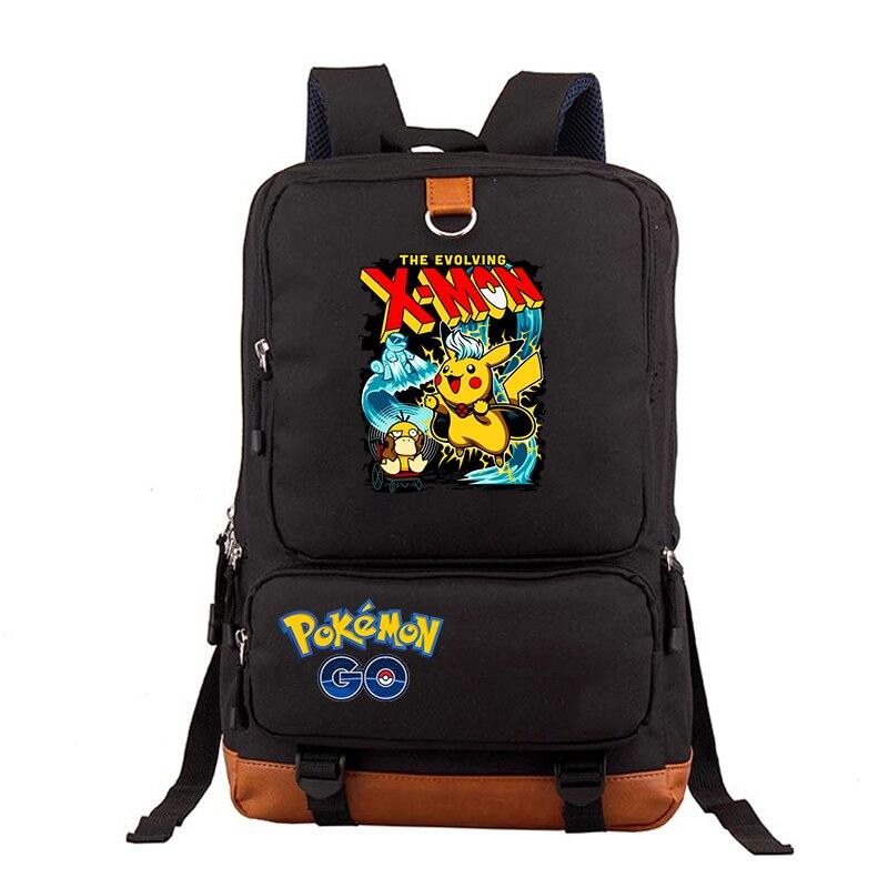 Grandes femmes hommes sacs à dos imprimer Amine Pokemon sac à dos adolescent mode sac d'ordinateur portable décontracté étudiants garçon fille quotidien voyage cartable