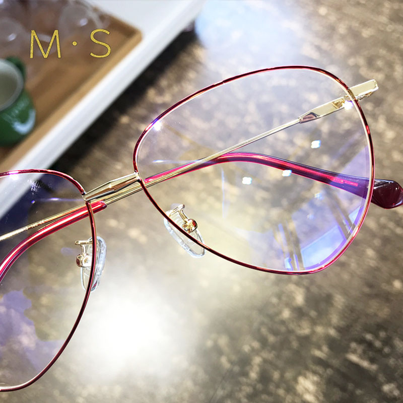 MS 2018 New Fashion G Anti Blue light Ray Computer Goggles Radiation-resistant Transparent eye glasses frames Flat mirrorGoggles