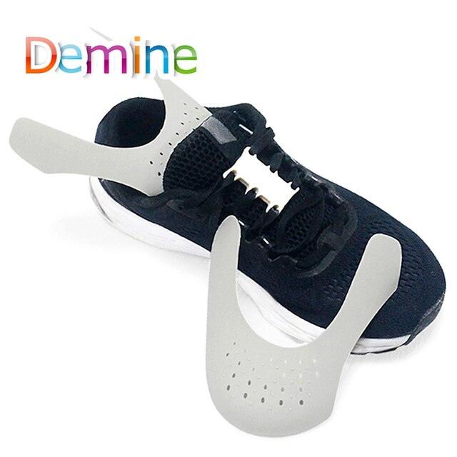 Demine Giày Lá Chắn Giày Sneaker Lá Chắn Chống Nhăn Gấp Gọn Giày Hỗ Trợ Uốn Nứt Chân Mũ Giày Strecher Tấm Bảo Vệ Giọt Nước