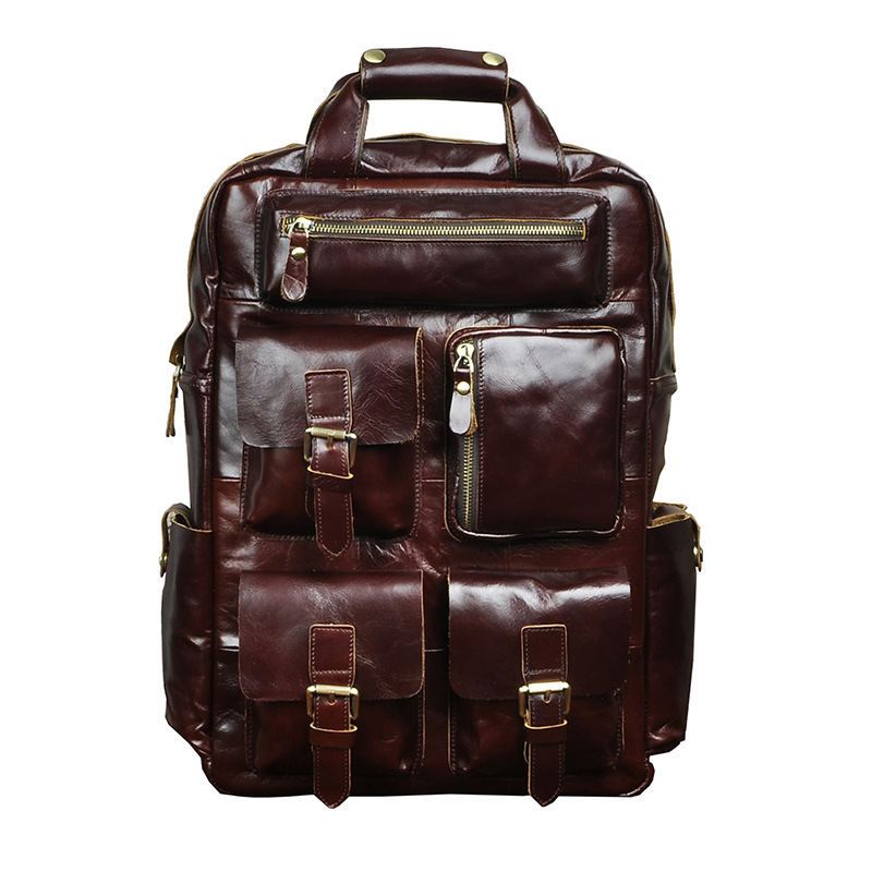 100% Genuine Leather Men Backpacks Casual Real Natural Leather Student Backpack Boy Luxury Brand Vintage Computer Laptop Bag100% Genuine Leather Men Backpacks Casual Real Natural Leather Student Backpack Boy Luxury Brand Vintage Computer Laptop Bag
