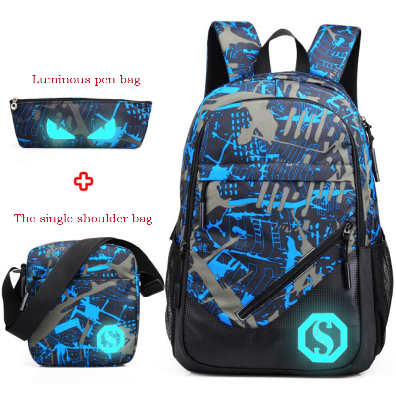 Earnest School Bags Man Backpacks Women Backpack Leisure Sport Backpack Large Capacity Laptop Bag Travel Bag Mochila 100% Original Lights & Lighting