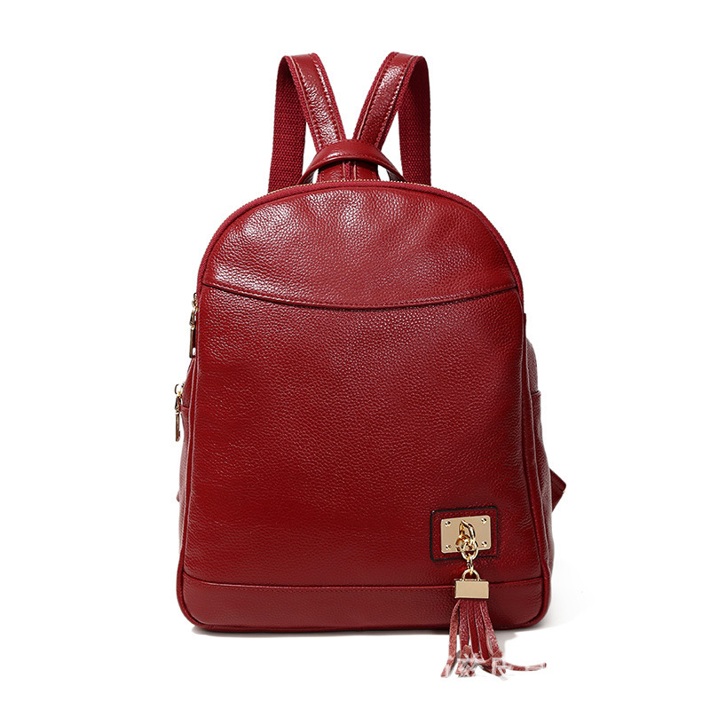 New Fashion 100% Genuine Leather Women Backpacks High Quality Female Real Natural Leather Ladies Girl Student Casual Backpack fashion 100% real genuine leather casual women s backpacks female casual knapsack laptop bag ladies pocket girl schoolbag hp47