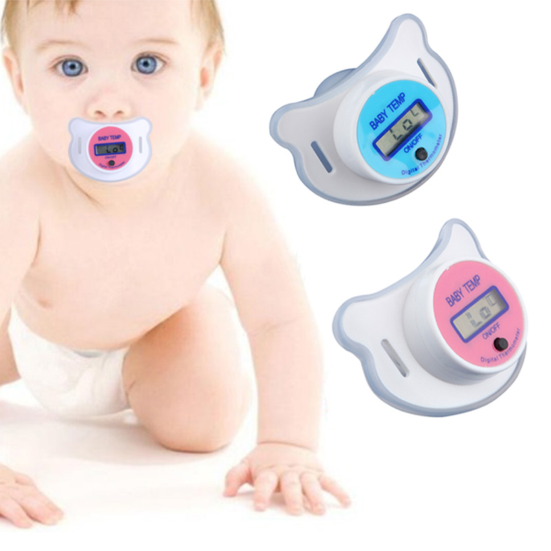 Health Monitors Baby Silicone Nipple Thermometer Baby Care Temperature Measure