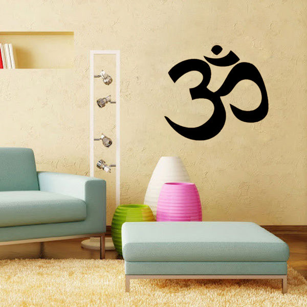 Hindu Om Bible Religious inspiration quote pattern adhesive ...