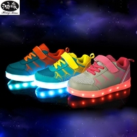 New 7 Color LED Glowing Sneakers Casual Kids Shoes For Boys Girls Shoes Fashion Casual Light