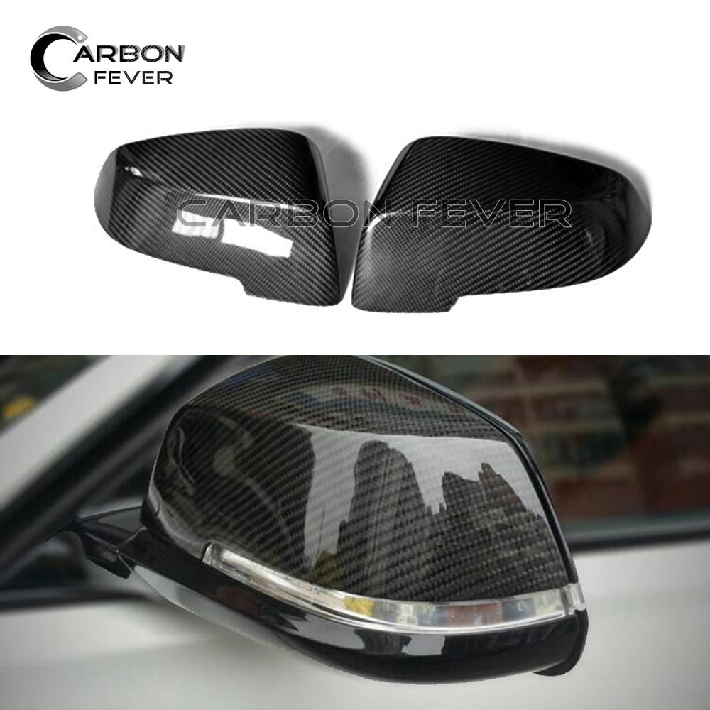 Replacement Mirror For BMW 5 6 7 Series F10 F07 F06 F12 F13 Carbon Fiber 14-16