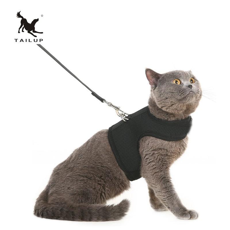 TAILUP Mode Kleine Hond Comfort Vest Harnas Leash XS / S / M / L / XL - Producten voor huisdieren