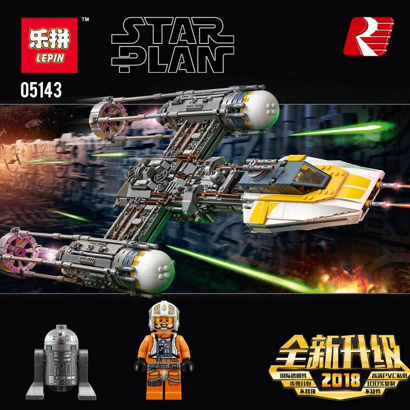 Lepin 05143 2203Pcs Star Plan Series The Legoingly 75181 Y-wing Starfighter Set Building Blocks Bricks New Toys For Kid Gifts конструктор lepin star plan истребитель набу 187 дет 05060