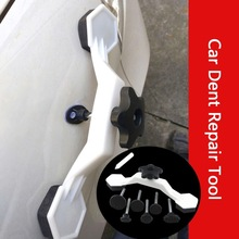 8 pçs universal carro reparação dent ferramenta de remoção ferramentas manuais kits de reparo do corpo da porta do carro veículo auto cola vara puxando ponte dispositivo
