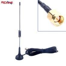 RCmall GSM антенна 900-1800 МГц двухдиапазонный мобильный усилитель сигнала наружная присоска антенны 3 м SMA разъем мужской FZ2428A