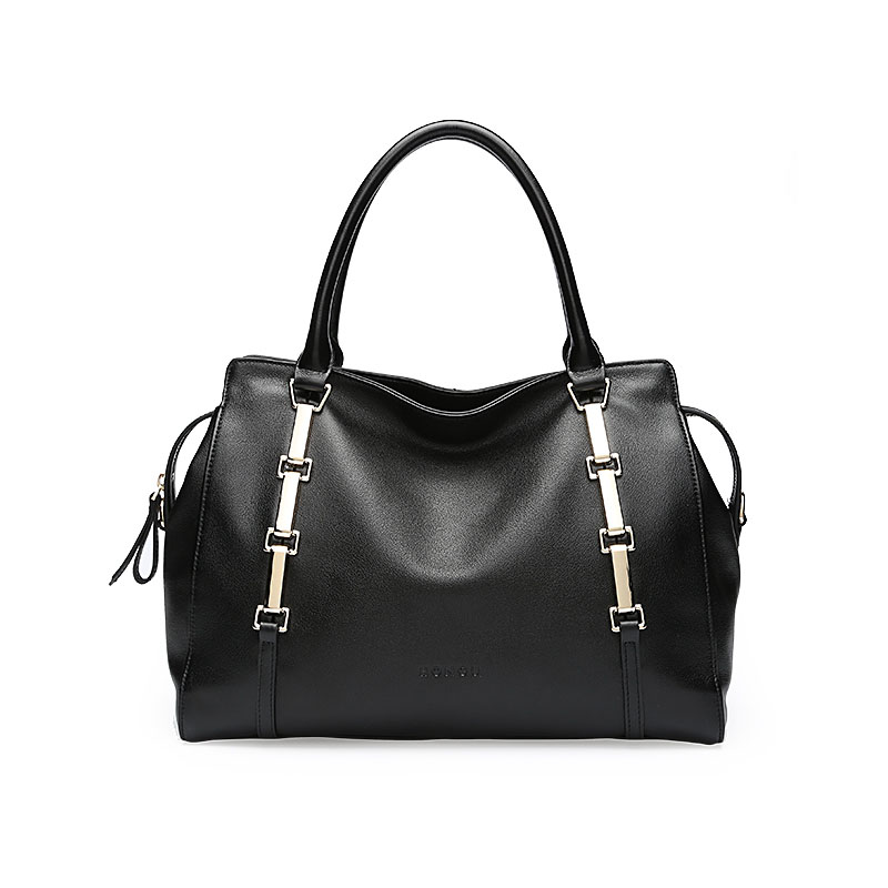 Genuine Leather bags handbags women famous brands New Leisure Calfskin High-capacity zipper bamboo decoration shoulder bagGenuine Leather bags handbags women famous brands New Leisure Calfskin High-capacity zipper bamboo decoration shoulder bag