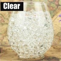 1kg/Bag clear colors Pearl Shaped Crystal Soil Water Beads Mud Grow Magic Jelly Balls Home Decor Aqua Soil Wholesales