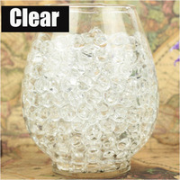 1kg/Bag clear colors Pearl Shaped Crystal Soil Water Beads Mud Grow Magic Jelly Balls Home Decor Aqua Soil Wholesales