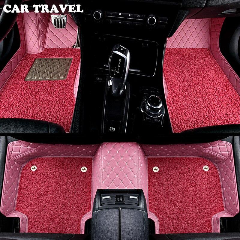 Voiture tapis de sol pour Mini COUNTRYMAN COUPÉ PACEMAN CLUBMAN CABRIO ROADSTER de voiture accessoires voiture style Personnalisé tapis de sol Rose/ rouge