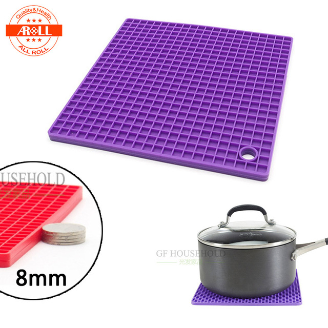 Thick Heat Resistant Silicone Pot Holder Mat Pad Kitchen Table Tools Square  Insulating Mat Pad Heat