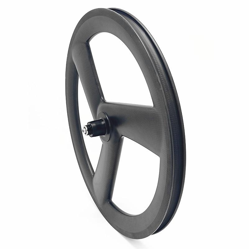 Flash Deal carbon 3 spokes wheels bicycle carbon 3 spokes wheelset 3K UD 20in 406 3 spokes wheels 100x9mm 130x9mm V brake 20in wheels 1