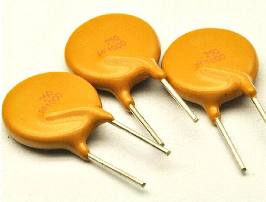 Купить с кэшбэком 5PCS PPTC resettable fuse TRF250-1000 250V 1A 1000MA