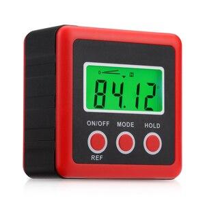 Image 2 - Inclinómetro Digital de precisión roja, caja de nivel a prueba de agua, buscador de ángulo Digital, caja cónica con Base magnética