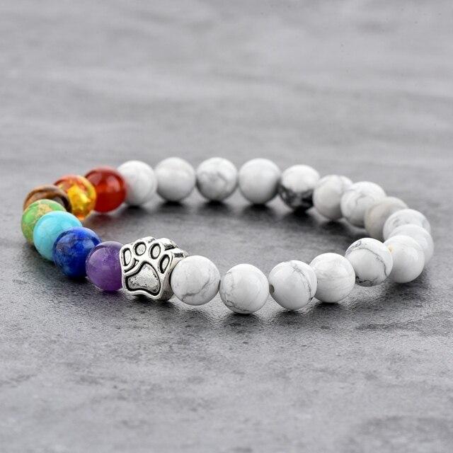 Фото браслет для йоги chicvie лапа натуральный камень бусина эластичный цена