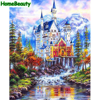 Home Beauty Diy Digital Oil Painting By Number Modular Canvas Picture For Living Room Craft Coloring