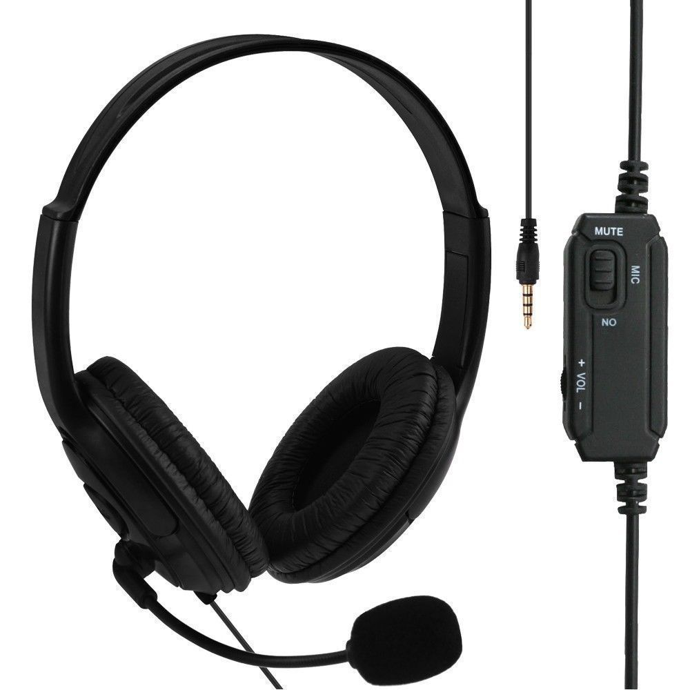 New Wired Gaming Headset Headphones with Microphone for Sony PS4 for Play Station 4