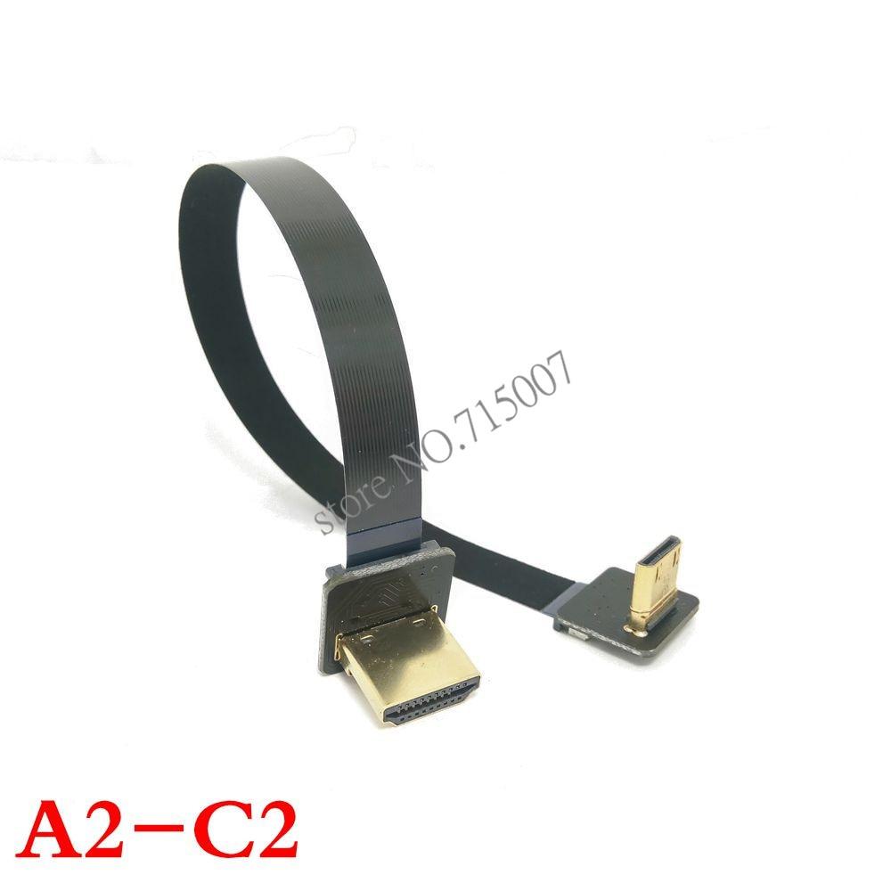 0,05M-1M FPV dubbelt uppvinklad 90 graders HDMI-typ A manlig till - Datorkablar och kontakter - Foto 3