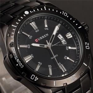 Image 2 - Herren Uhren Top Luxus Marke CURREN 2018 Männer Voller Stahl Uhren Quarzuhr Analog Wasserdicht Sport Army Military Armbanduhr