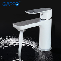 Elegant Style Sink Mounted Basin Faucet Single Handle PVD Mirror Plating Chrome Finished G1048