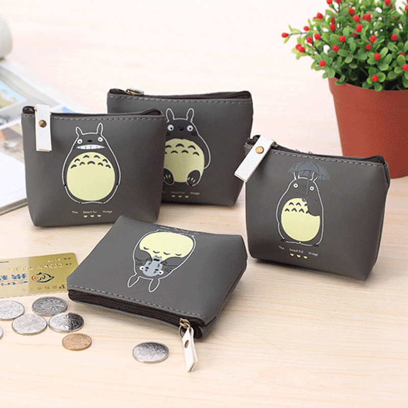 Hot 4 Types Cute Totoro PU Coin Purses Cartoon Lovely Waterproof Mini Storage Bags For Cardholder In-ear Headphone fashion coin purse wallets mini bag league creative personality canvas bags cartoon storage bags for cardholder in ear headphone