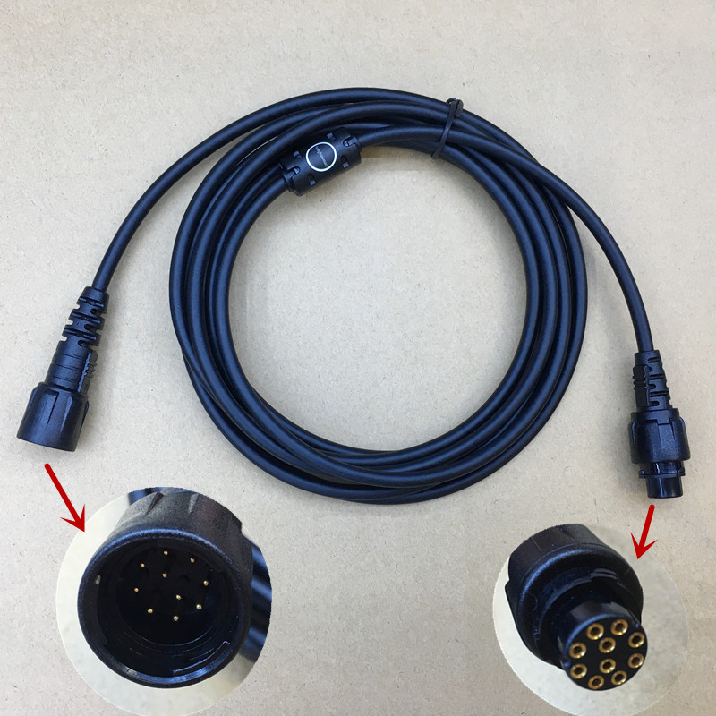 Honghuismart The Microphone Extend Cable For Hytera MD780 MD650 MD658 Etc Car Vehicle Digital Radio Cabel Length=about 3m