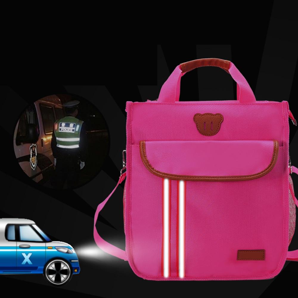Fashion Nylon Book Bag Children Waterproof Handbag Crossbody Messenger Bags Tutorial Single shoulder bag School Bag(China)
