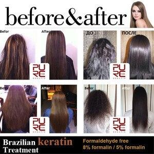 Image 4 - 1x PURC Keratine Voor Haar 1000 ml Braziliaanse Keratine Haar Behandeling Formaline 5% Stijltang Voor Reparatie Beschadigd Haar P40