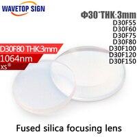 Free Shipping YAG Laser Welding Machine Focus Lens D36F80 Diameter 36mm Focus Distance 80mm Thickness