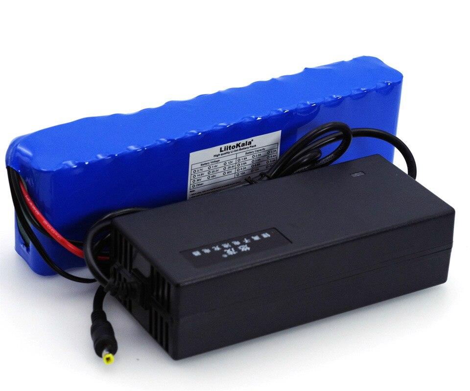 LiitoKala 48 V 5.2ah 13s2p Haute Puissance 18650 Batterie Électrique Véhicule Électrique Moto BRICOLAGE Batterie 48 v BMS Protection + chargeur