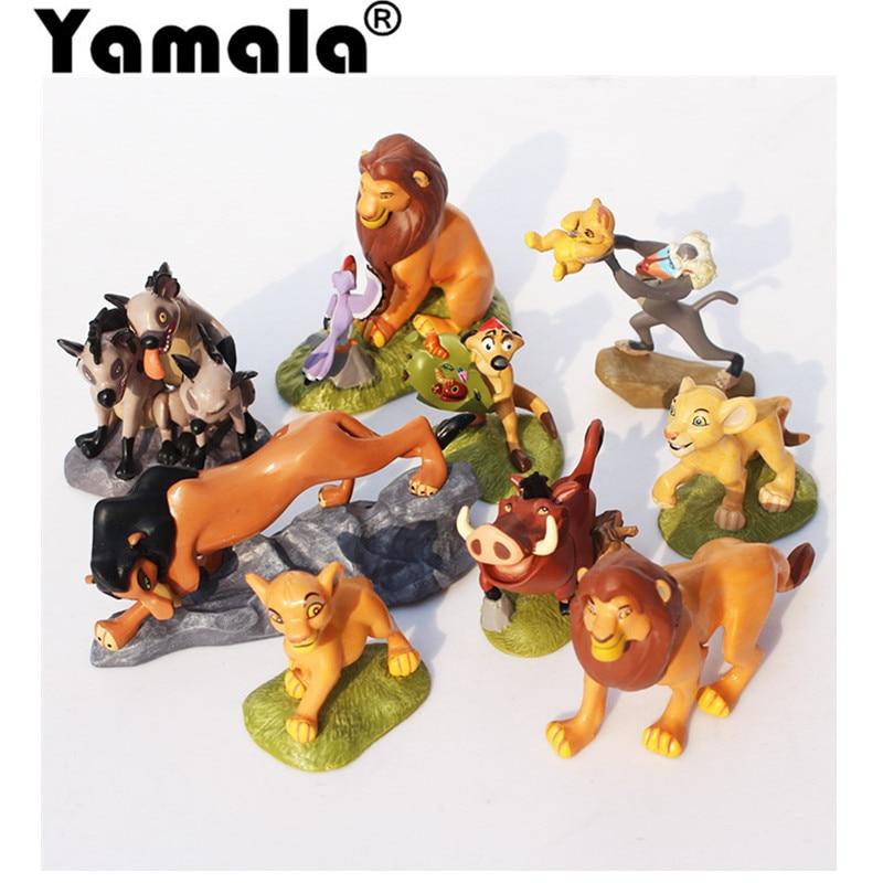 [Yamala] 9 PCS 5~9CM High The Lion King Action Toys Figures PVC Cartoon Anime Figures Model toys 9 5