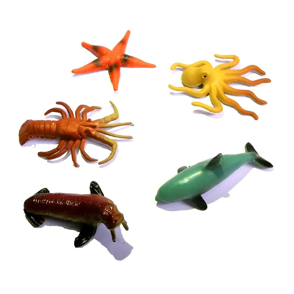 WITHYOU 12pcs/set Plastic Mini Dinosaur Toy Model Ocean Sea Animal Action Figures 30