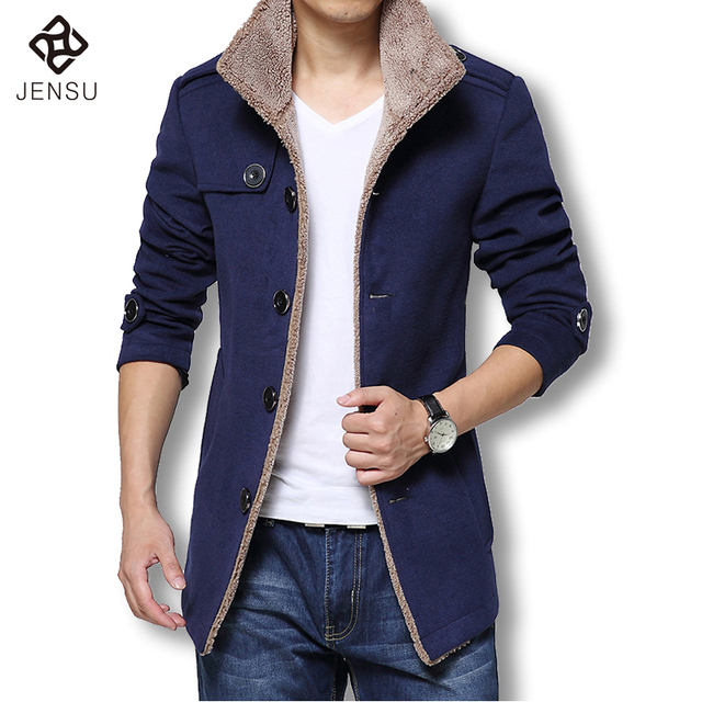 Aliexpress.com : Buy 2017 Men Long Wool Coat Winter Men Jackets ...