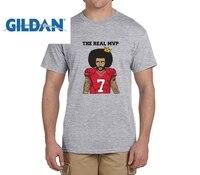Gildan mvp الحقيقية: كولن kaepernick مضحك قمصان الرجال 7 الأزياء القمصان لل 49ers المشجعين